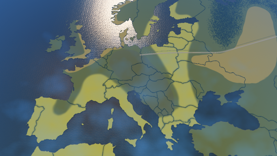 Europe Map in Cities: Skylines