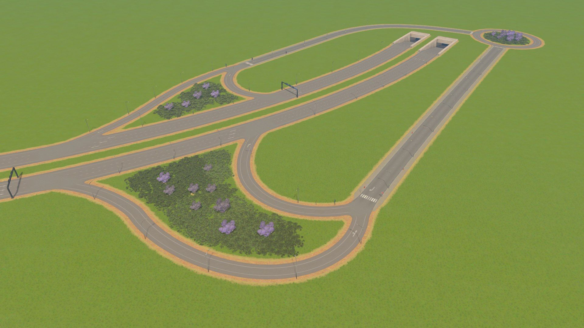 Küblis Tunnel Intersection in Cities: Skylines