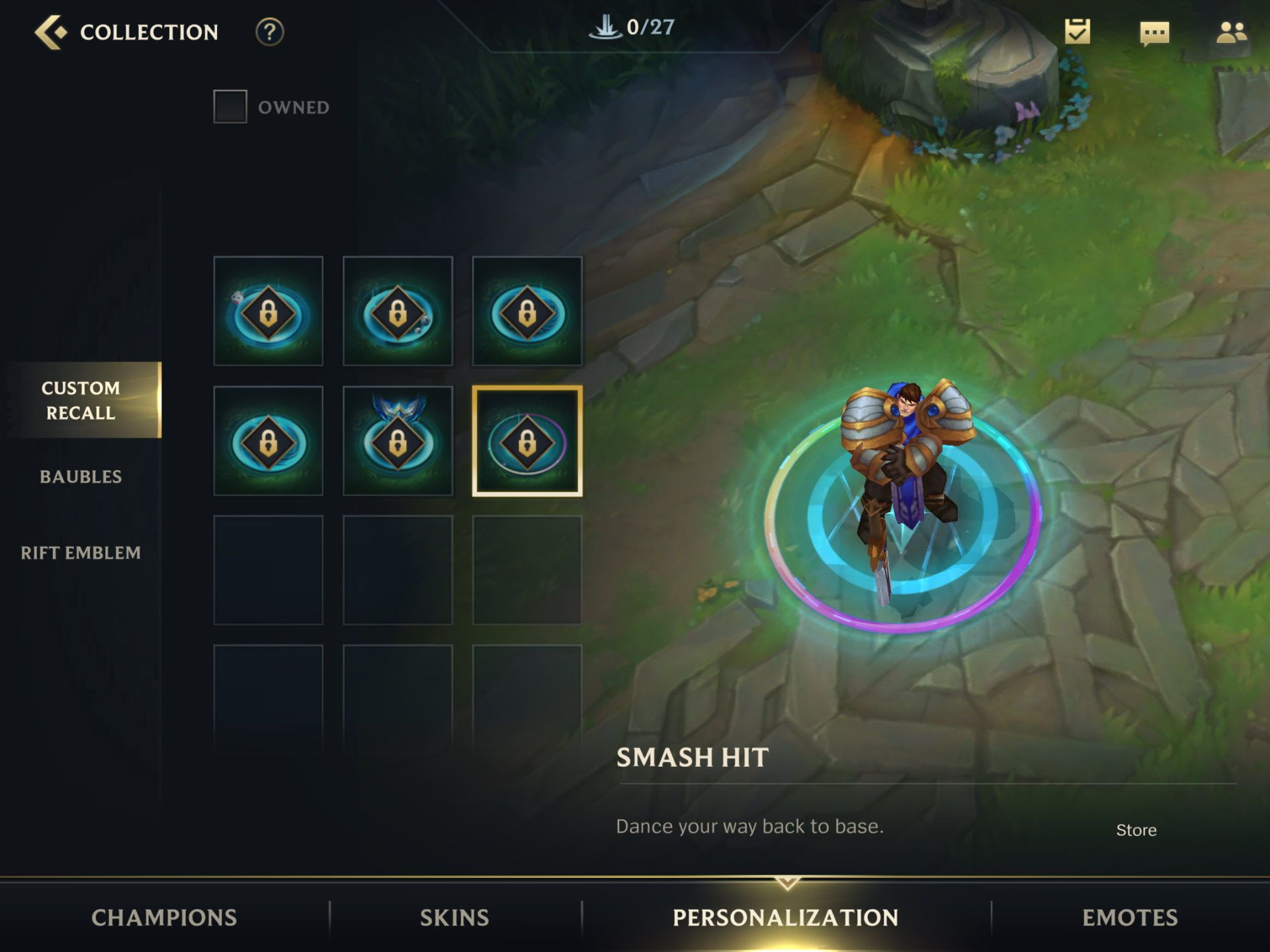 Custom Recalls in the Shop in League of Legends Wild Rift