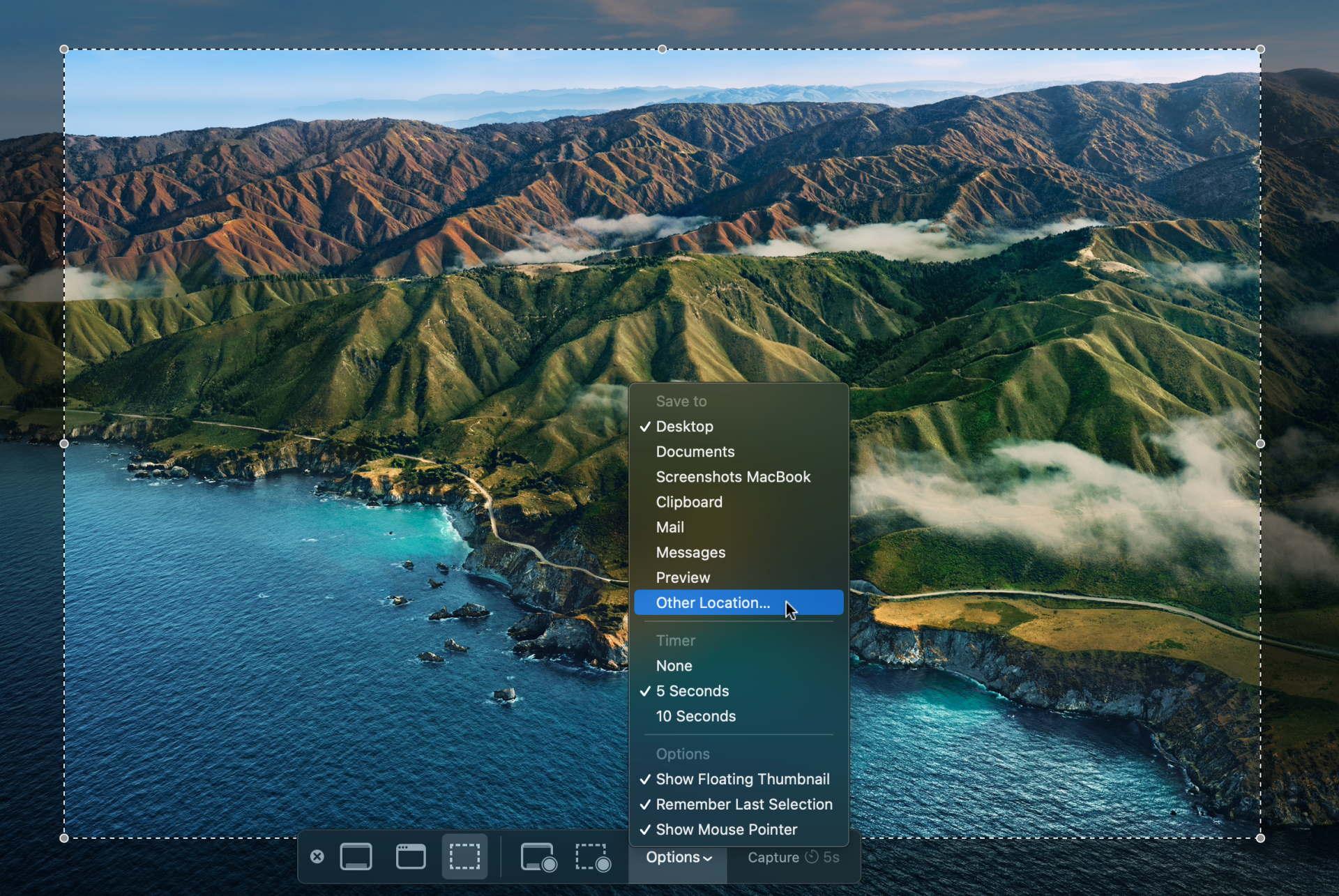 Change screenshot folder location in MacOS