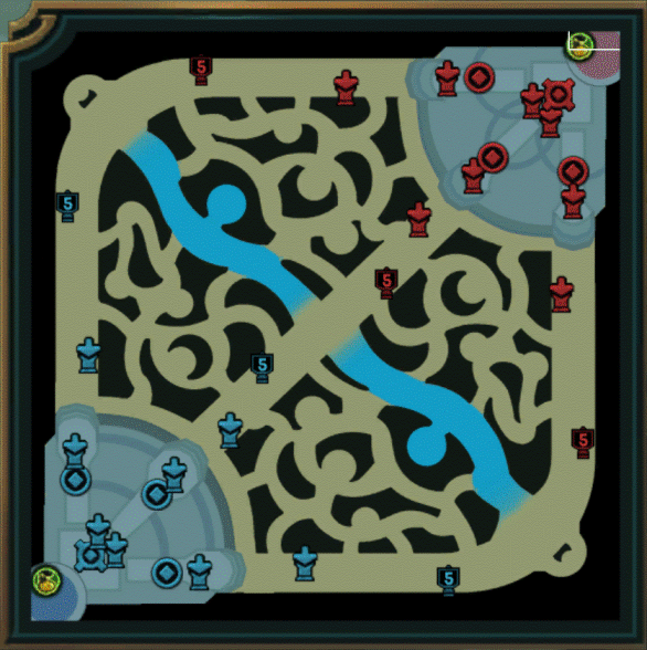 Minimap in League of Legends