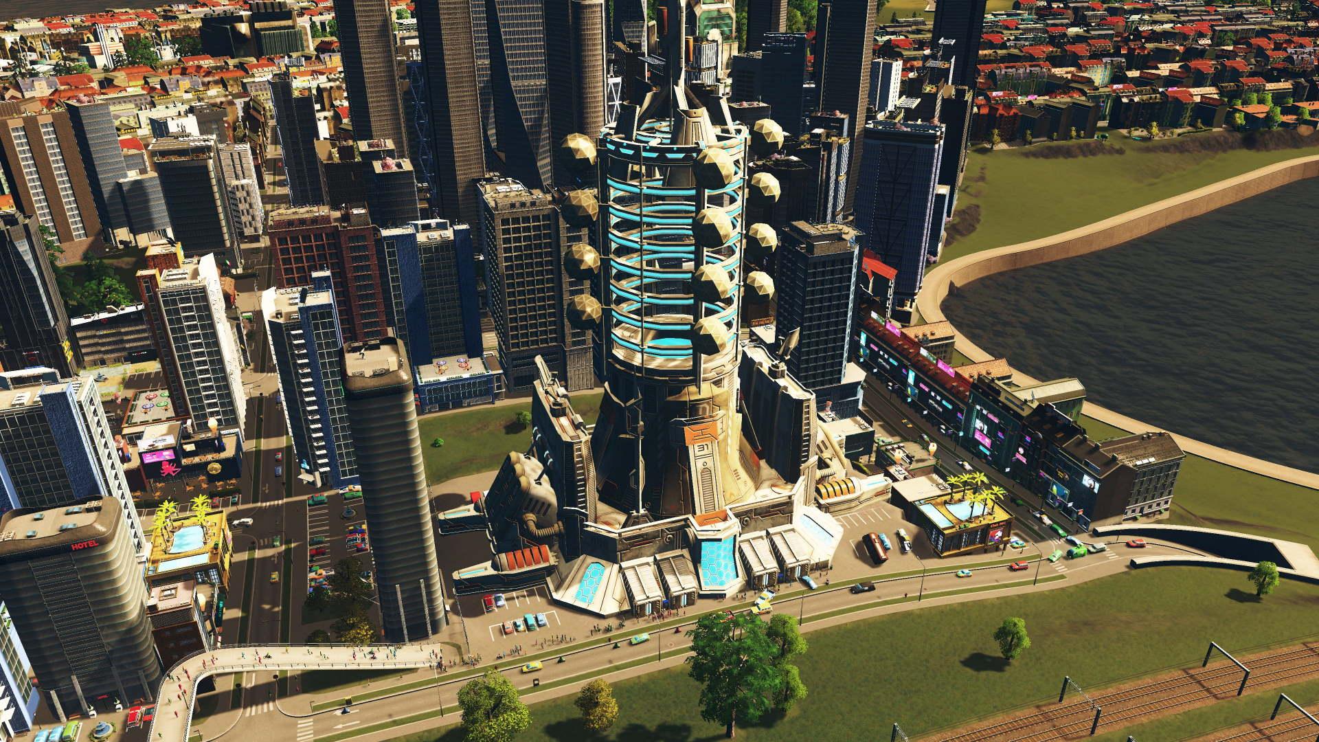 Space Elevator in Cities Skylines