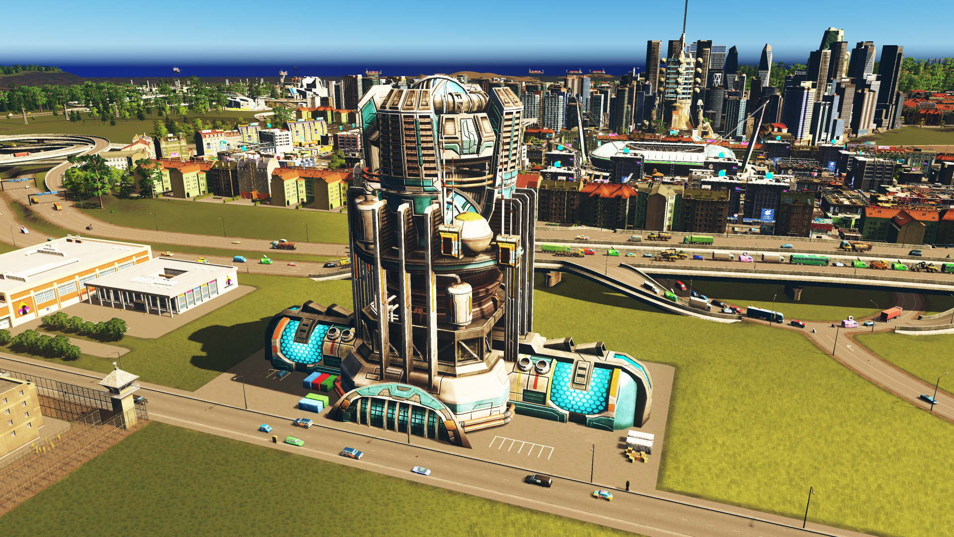 Fusion Power Plant in Cities Skylines