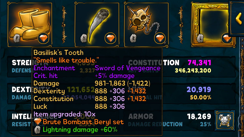Legendary gem weapon Berserker
