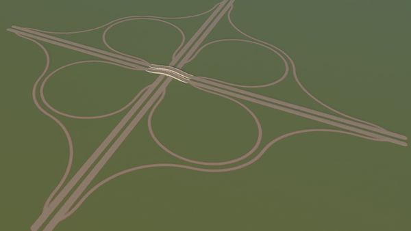 Cities Skylines: Perfect Cloverleaf Interchange with Advanced Road Tools